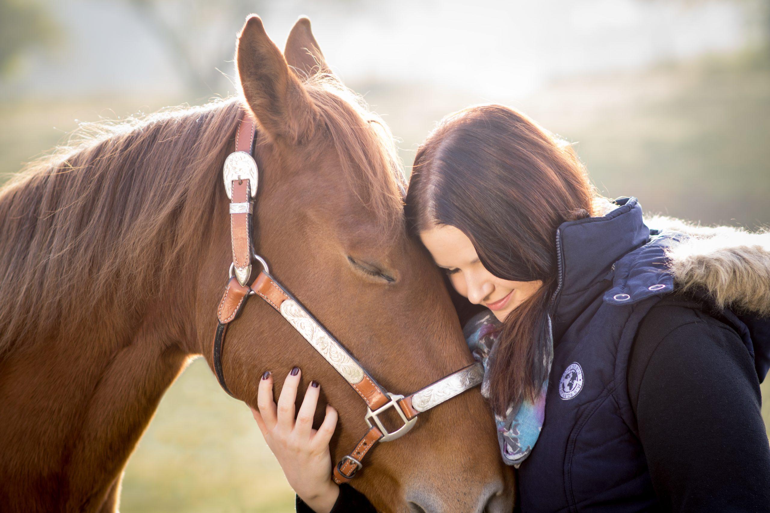 Pferdeshooting Umarmung